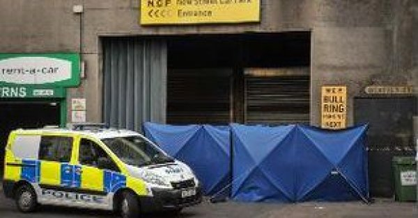 The scene of the death at Birmingham City Centre [Image: Birmingham Mail].
