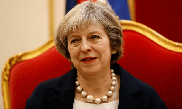 Does she think she's royalty? Theresa May enthrones herself in Bahrain ahead of the Gulf Co-operation Council Summit [Image: Stefan Wermuth/Reuters].