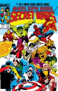 Cover of Marvel Comics first major crossover event, Secret Wars #1