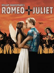 Poster for the film, Romeo + Juliet