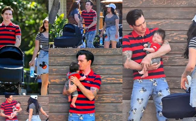 Drake Bell fue captado con su novia e hijo en Disneyland – Vox Populi  Noticias