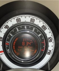 Fiat Pop 500c Dashboard First Oil Change