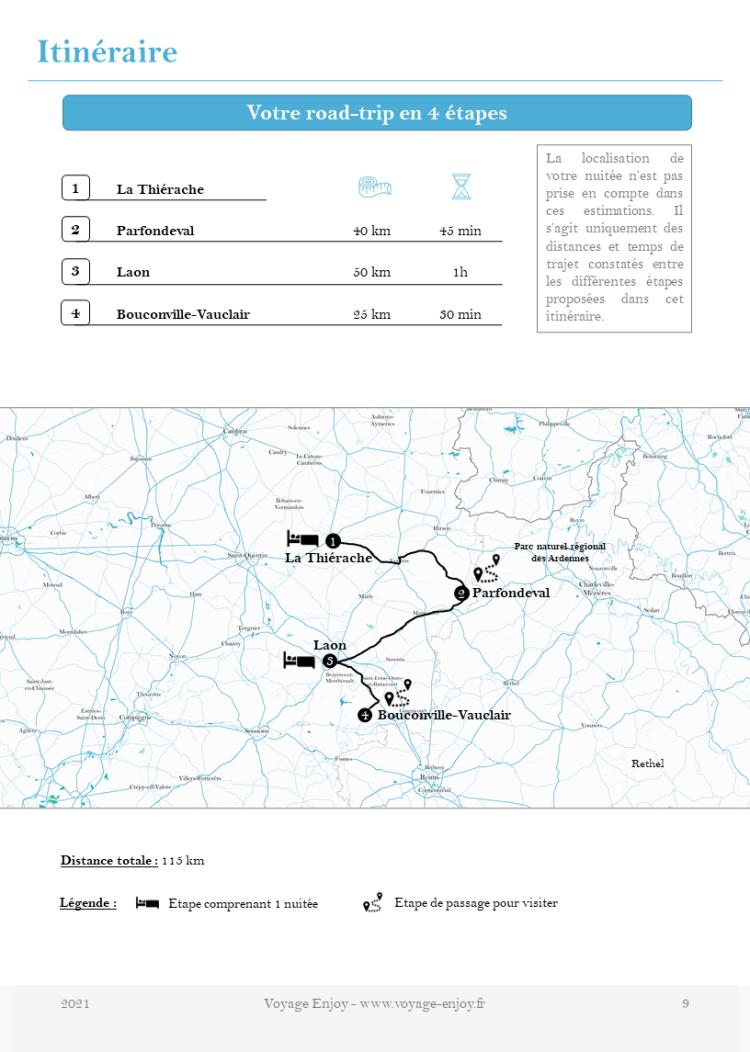 Carnet de voyage Aisne itineraire