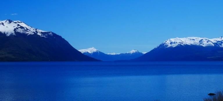 La Patagonie en bleu, blanc, vert