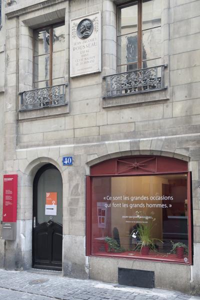 Façade de la maison natale de J-J. Rousseau à Genève © Carole Parodi