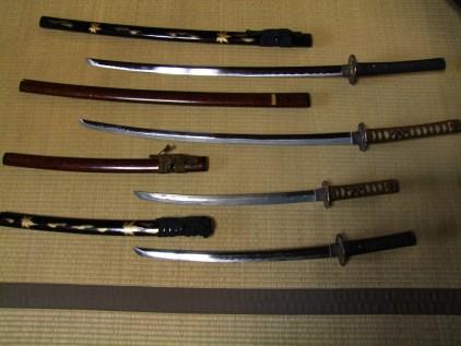 les katanas de famille samourai