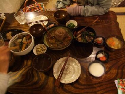 repas de ouf. SICK ! plein de plats organiques, goutus, trop bons !