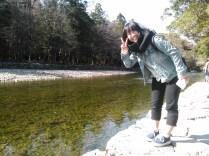 Yuiko chan rencontree a Ise, au sanctuaire. Elle m'a propose de visiter le sanctuaire principal ensemble.