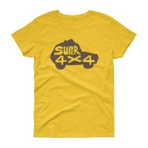 T-shirt femme SUPER 4×4, manches courtes