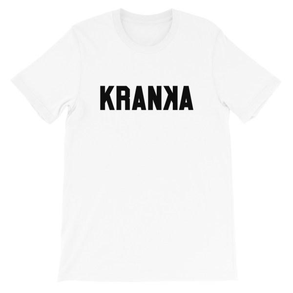 KRANKA • T-shirt blanc homme femme manches courtes