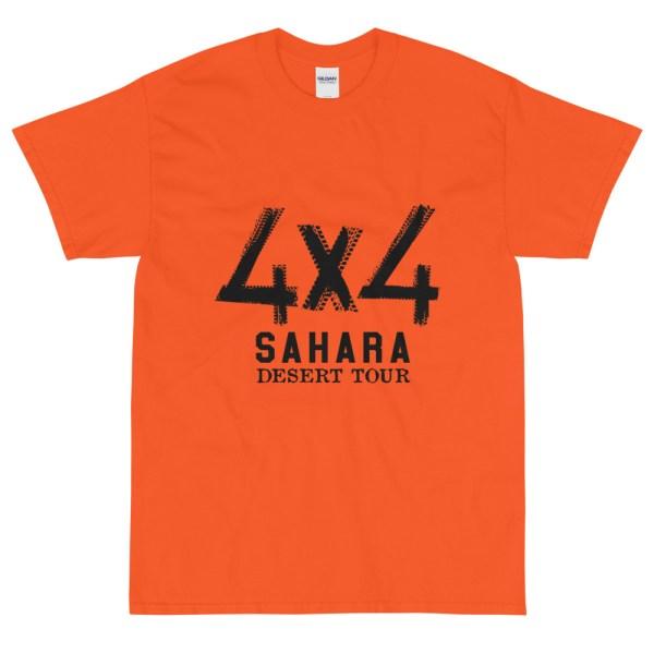 T-shirt orange 4X4 SAHARA Desert Tour