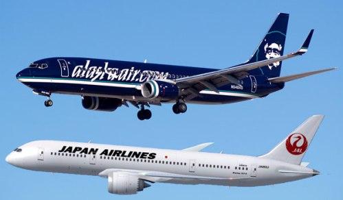 アラスカ航空(AS)が日本航空(JL)のプレミアムエコノミーをマイレージチャートから削除
