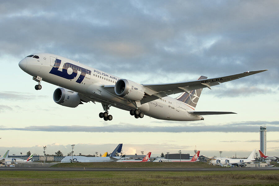 Fifth Freedom Flights : LOT Polish Airlines(LO)