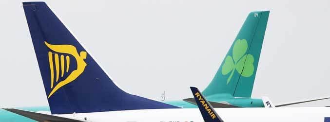 エアリンガス(EI)とライアンエアー(FR)が接続便の提携で合意
