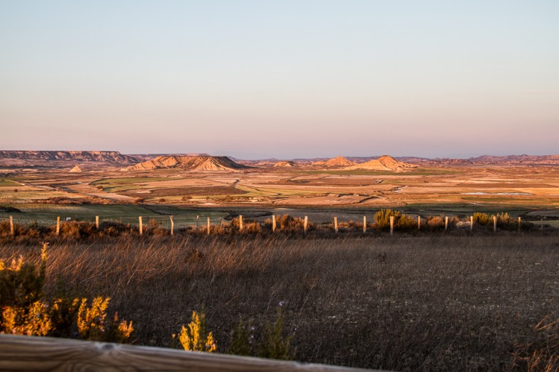 coucher de soleil desert Bardenas Esapgne