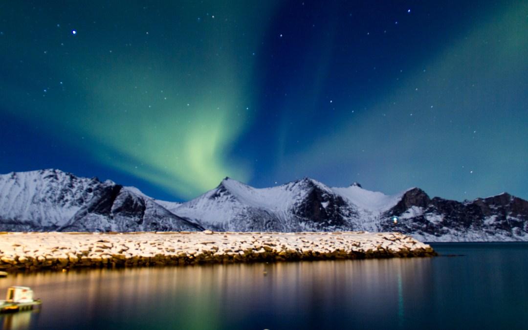 Trackeuse d'aurores boréales en Norvège