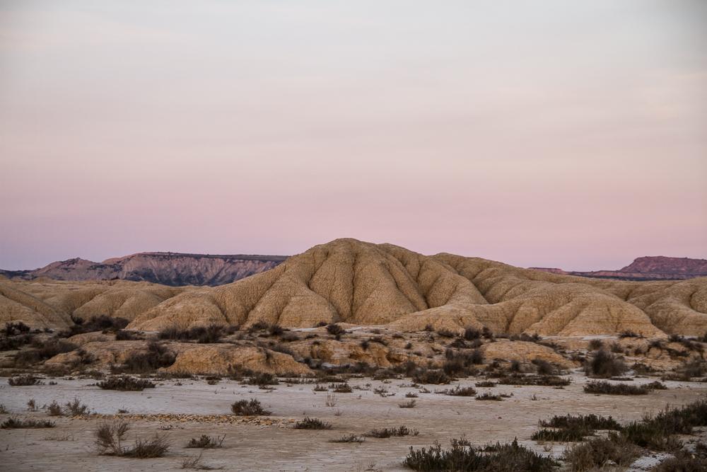 ciel rose desert Bardenas Reales
