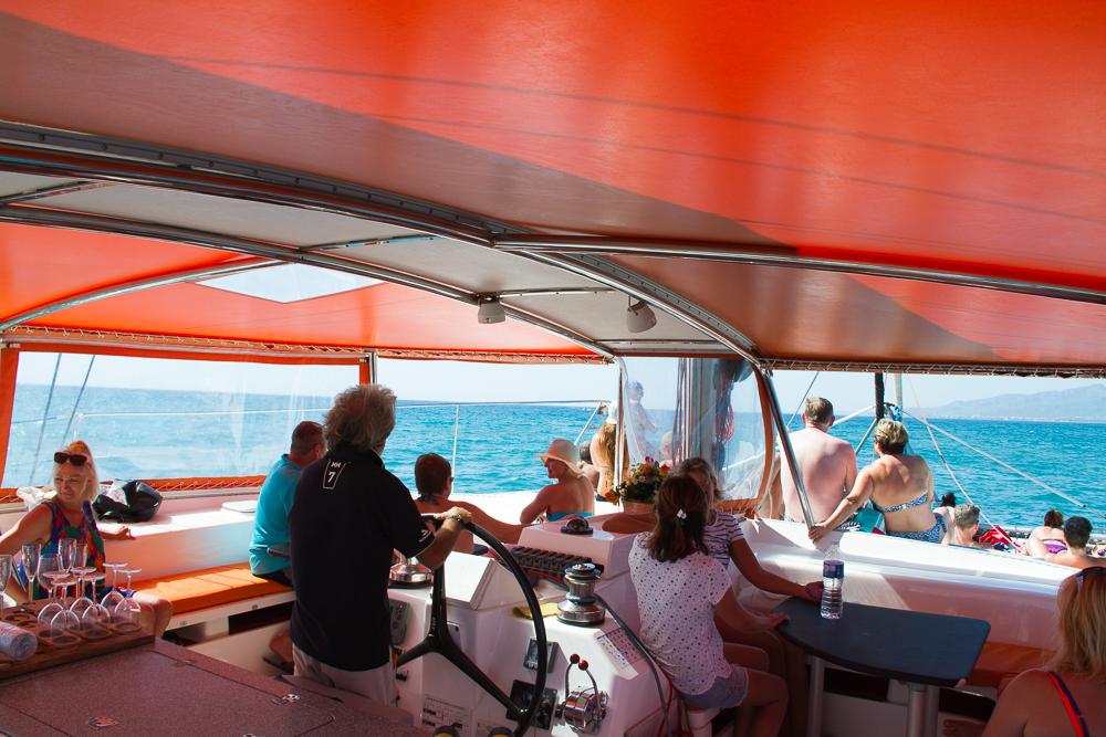 intérieur du catamaran