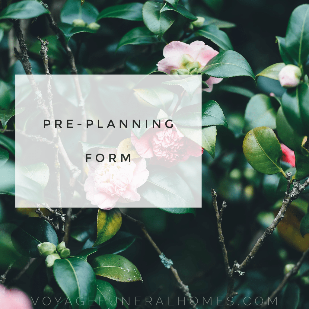 Pre-Planning Form Button