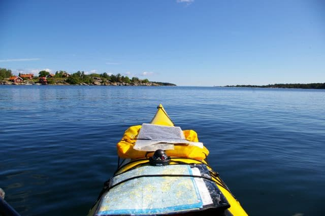 Kayak de mer Stockholm