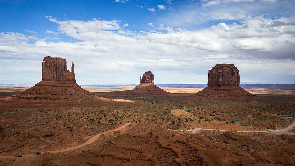 Vue depuis la terrasse du Visitor Center, Monument Valley
