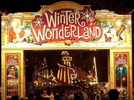 Jean-Marc Gyphjolik dans le parc Winter Wonderland
