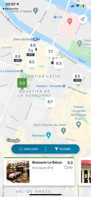 TheFork - Map