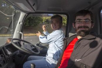 Un camionero japonais (JP) - Sur la route d'Hiroshima, JAPON