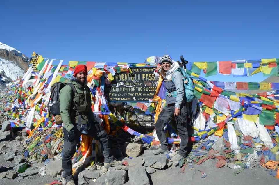 Trek Tour des Annapurnas. Au col Thorong-La