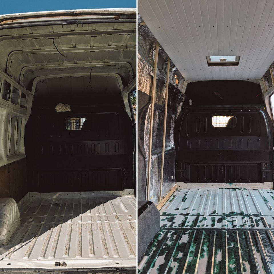 Pose lanterneau dans van