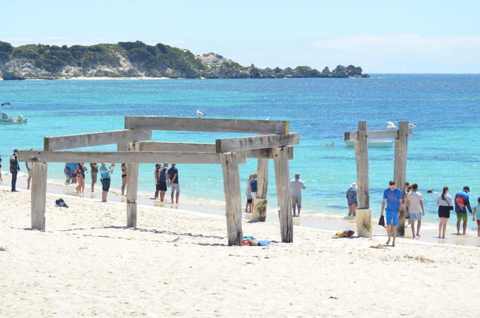 Les restes de l'ancienne jetée d'Hamelin Bay