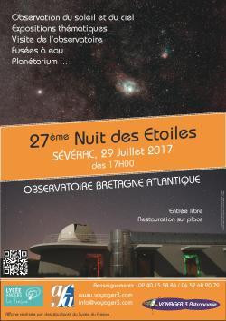 Affiche Nuit des Etoiles 2017 Sévérac