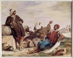 Muletiers de Tetouan - aquarelle