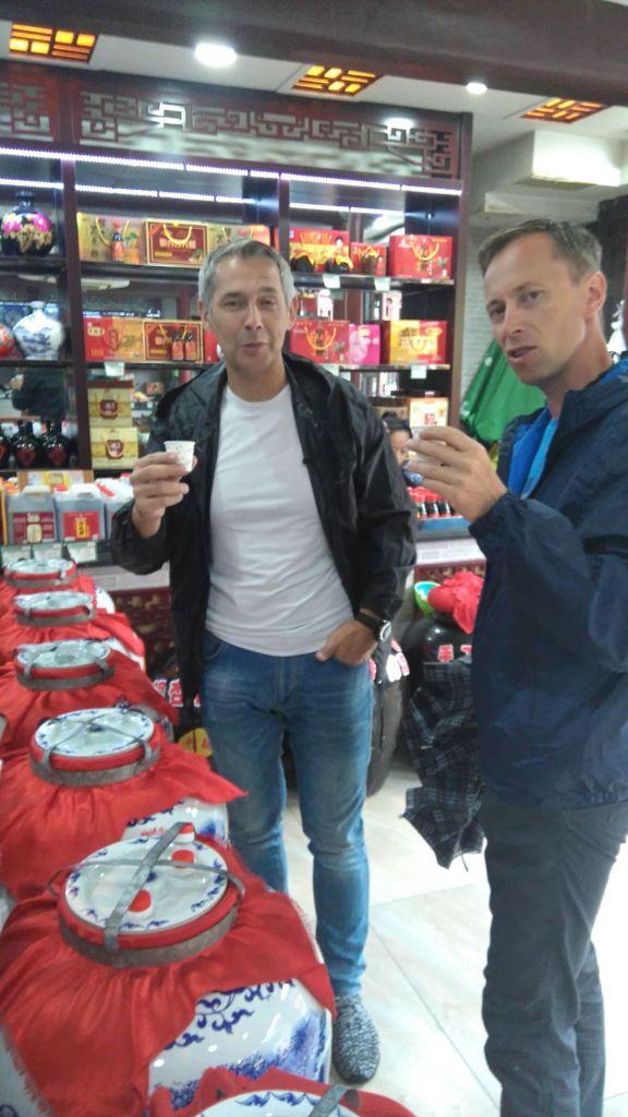 Chiny degustacja wódki w Pingyao