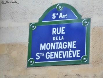 rue de la Montagne Sainte Geneviève - Paris