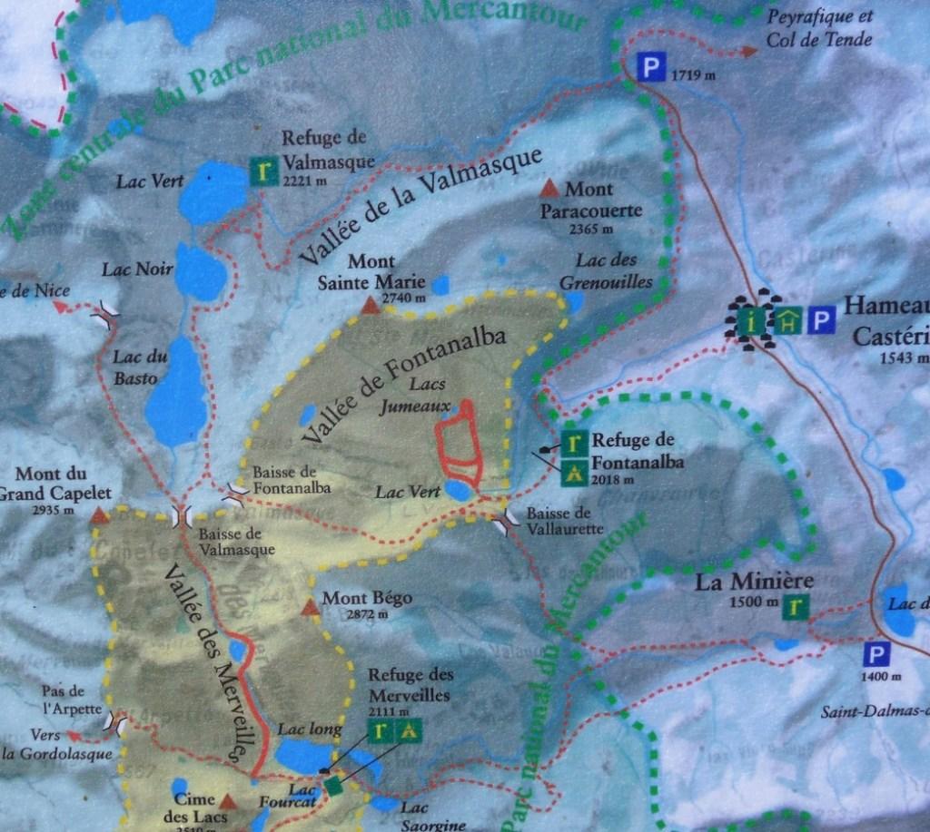 vallon de Fontanalba - panneau & carte