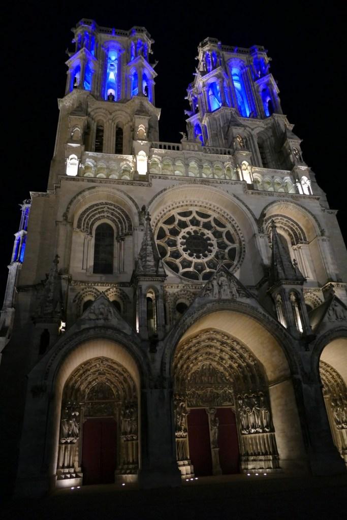 Cathédrale de Laon - illuminations nocturnes