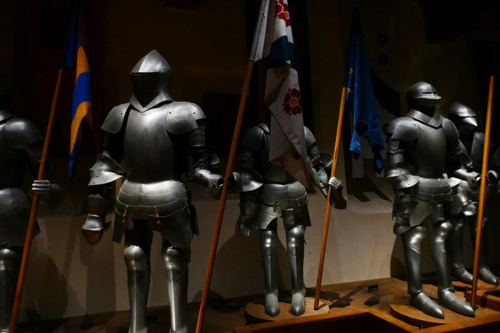 La fresque historique au château de Saint Vidal