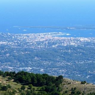 Cannes vue du camp de la Malle