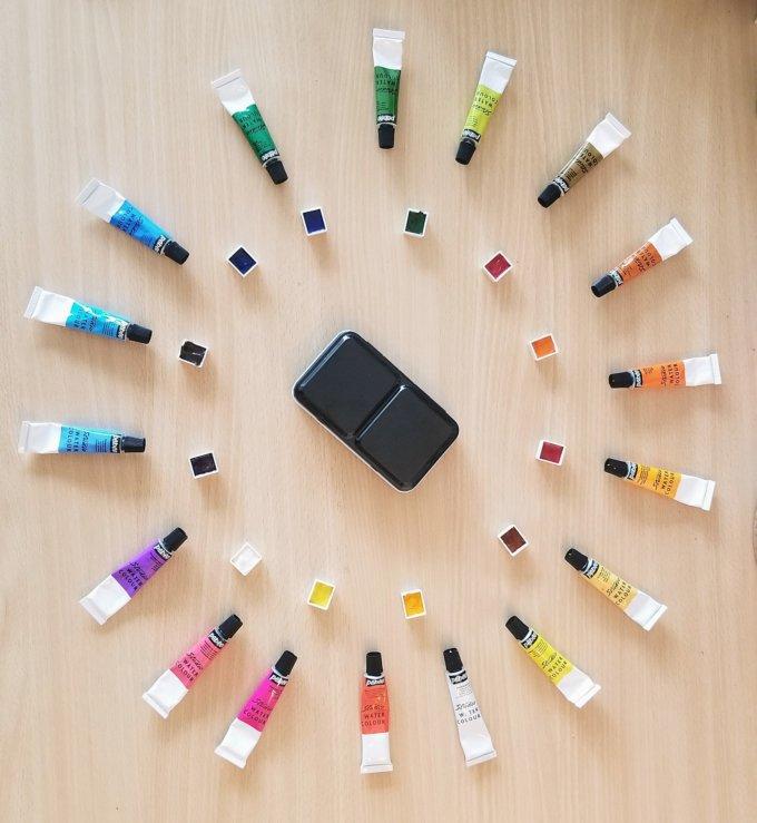 Fais ta propre palette d'aquarelle