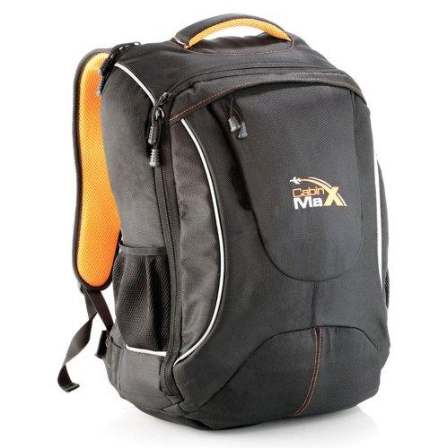 Cabin-Max-City-Flight-V2-Sac--dos-et-bagage--mains-pour-cabine-capacit-brute-de-44l-pochette-intgre-pour-accueillir-un-ordinateur-portable-17-pouces-0