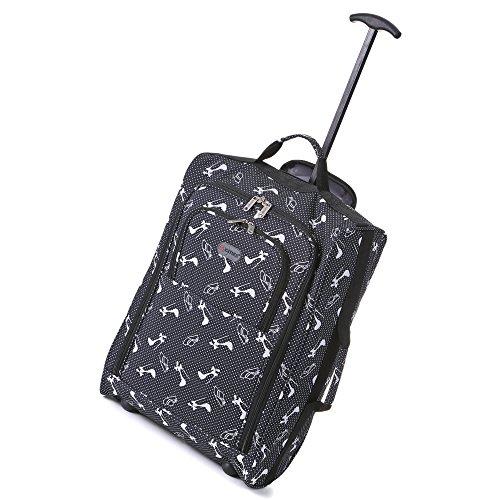 Frenzy-5Cities-55cm-50cm-lger-Trolley-bagages--main-Sac-Approuv-Ryanair-et-Easyjet-2-Wheel-Cabin-bagage--main-Conseil--33-42L-Voyage-Valise-sac-avec-un-cadenas--50cm-Chapeaux-Chaussures-Noir-0