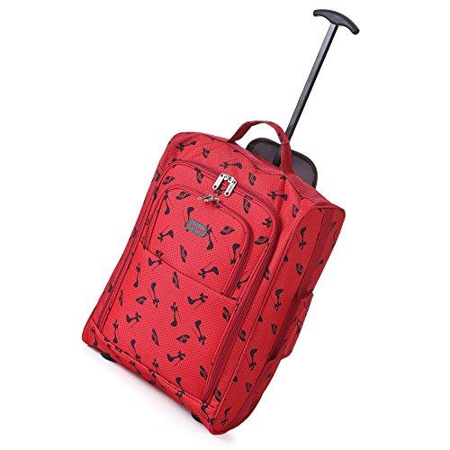 Frenzy-5Cities-55cm-50cm-lger-Trolley-bagages--main-Sac-Approuv-Ryanair-et-Easyjet-2-Wheel-Cabin-bagage--main-Conseil--33-42L-Voyage-Valise-sac-avec-un-cadenas--50cm-Chapeaux-Chaussures-Rouge-0