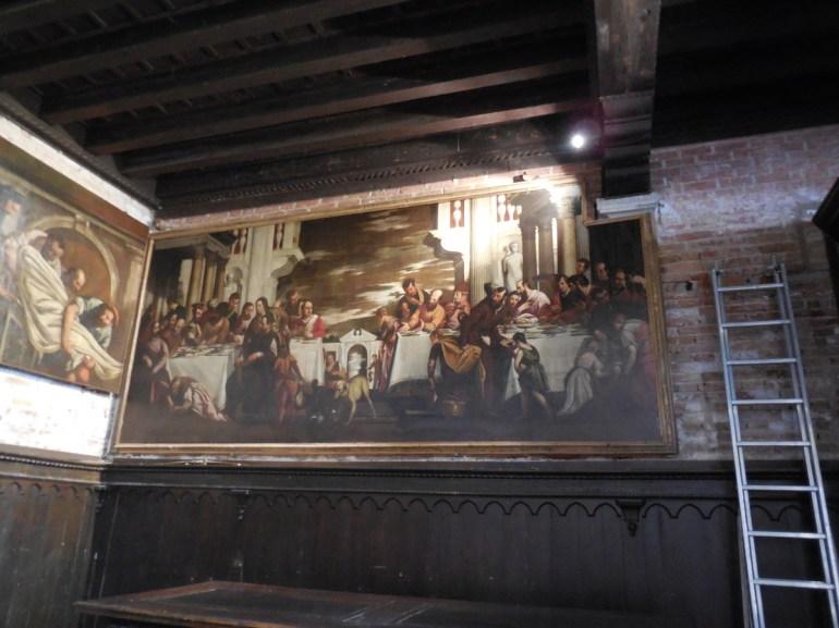 """Peinture de Véronèse: """"Repas chez le Pharisien"""""""