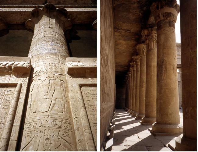 temple edfou colonnes