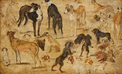 Jan Brueghel the Elder A Study of Hunting Dogs, ca. 1615/16