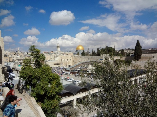 mur des lamentations/esplanade des mosquées