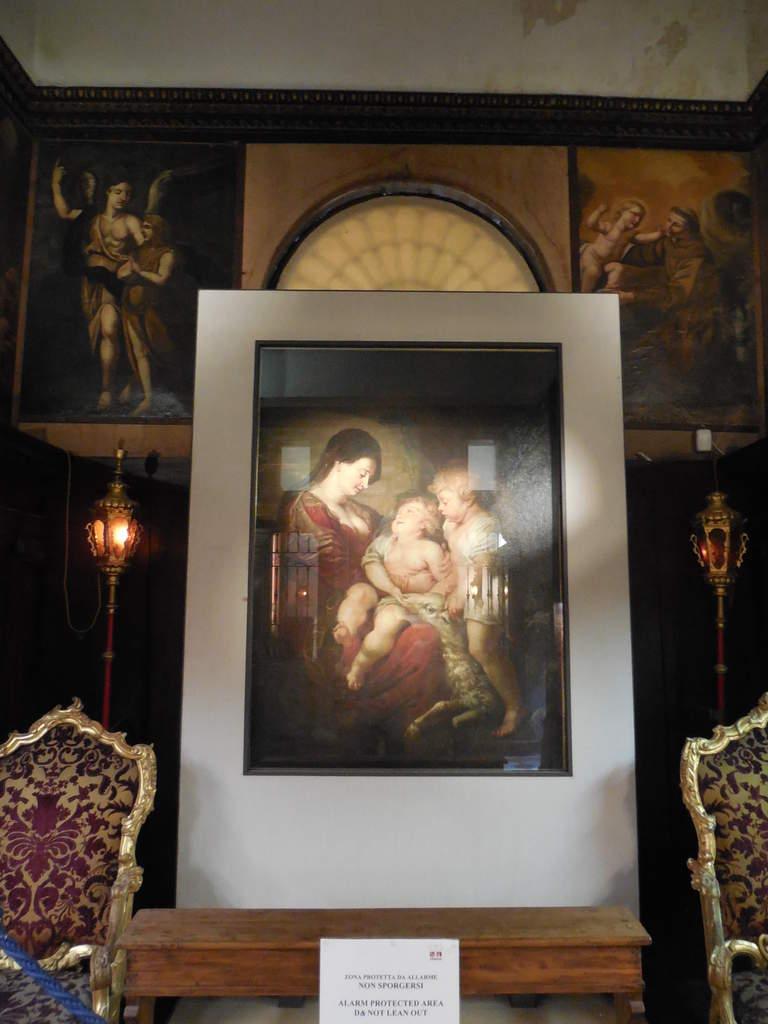 """""""La Madonne à l'Enfant avec Saint Jean"""" oeuvre de Rubens."""