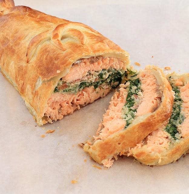 saumon wellington croute pate feuilletee recette anglaise