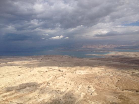 vue du haut de Massada